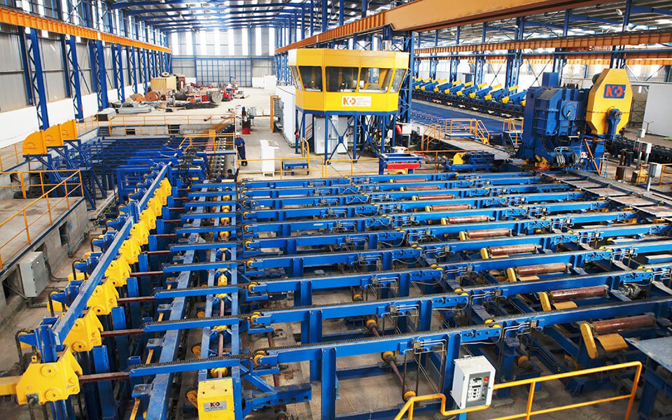 Packing weighing steel hot rolled bars machinery manufacturer